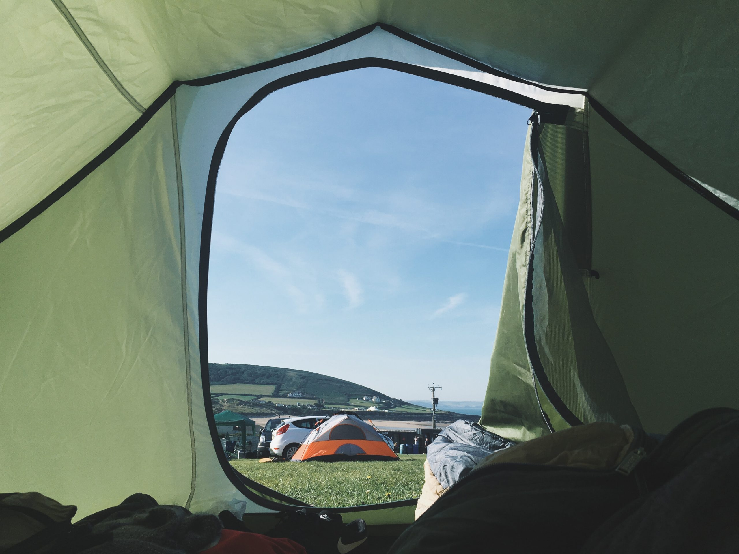 A tent in a body of water